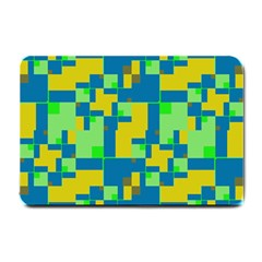 Shapes In Shapes Small Doormat by LalyLauraFLM