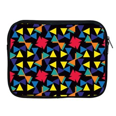 Colorful Triangles And Flowers Pattern Apple Ipad 2/3/4 Zipper Case by LalyLauraFLM