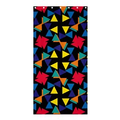 Colorful Triangles And Flowers Pattern	shower Curtain 36  X 72  by LalyLauraFLM