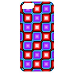 Connected Squares Pattern Apple Iphone 5 Classic Hardshell Case by LalyLauraFLM