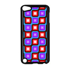Connected Squares Pattern Apple Ipod Touch 5 Case (black) by LalyLauraFLM