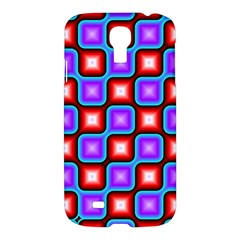 Connected Squares Pattern Samsung Galaxy S4 I9500/i9505 Hardshell Case by LalyLauraFLM