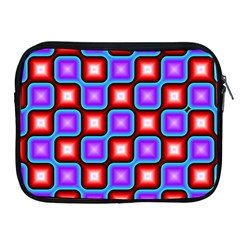 Connected Squares Pattern Apple Ipad 2/3/4 Zipper Case by LalyLauraFLM