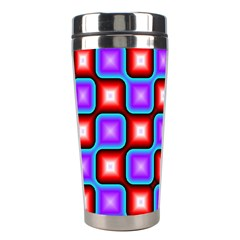 Connected Squares Pattern Stainless Steel Travel Tumbler by LalyLauraFLM
