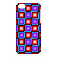 Connected Squares Pattern Apple Iphone 5c Hardshell Case by LalyLauraFLM