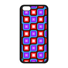 Connected Squares Pattern Apple Iphone 5c Seamless Case (black) by LalyLauraFLM