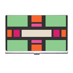 Rectangles Cross Business Card Holder by LalyLauraFLM