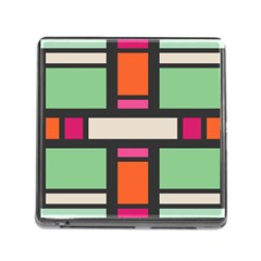 Rectangles Cross Memory Card Reader (square) by LalyLauraFLM