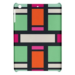 Rectangles Cross Apple Ipad Mini Hardshell Case by LalyLauraFLM