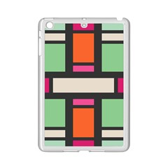 Rectangles Cross Apple Ipad Mini 2 Case (white) by LalyLauraFLM