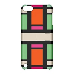Rectangles Cross Apple Ipod Touch 5 Hardshell Case With Stand by LalyLauraFLM