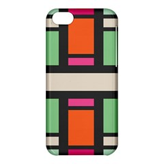Rectangles Cross Apple Iphone 5c Hardshell Case by LalyLauraFLM