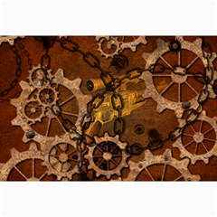 Steampunk In Rusty Metal Collage 12  X 18  by FantasyWorld7