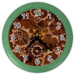 Steampunk In Rusty Metal Color Wall Clocks by FantasyWorld7