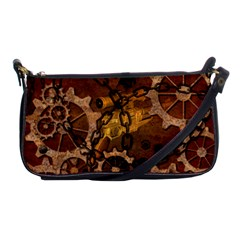 Steampunk In Rusty Metal Shoulder Clutch Bags