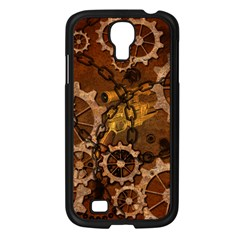 Steampunk In Rusty Metal Samsung Galaxy S4 I9500/ I9505 Case (black) by FantasyWorld7