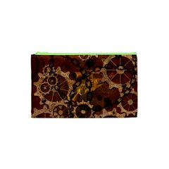 Steampunk In Rusty Metal Cosmetic Bag (xs) by FantasyWorld7