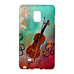 Violin With Violin Bow And Key Notes Galaxy Note Edge by FantasyWorld7