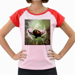 Beautiful Seaturtle With Bubbles Women s Cap Sleeve T-Shirt