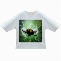 Beautiful Seaturtle With Bubbles Infant/Toddler T-Shirts