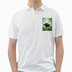 Beautiful Seaturtle With Bubbles Golf Shirts