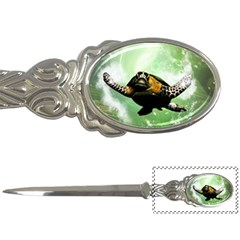 Beautiful Seaturtle With Bubbles Letter Openers
