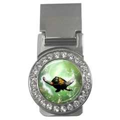 Beautiful Seaturtle With Bubbles Money Clips (CZ)