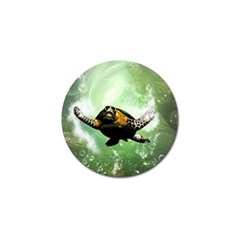 Beautiful Seaturtle With Bubbles Golf Ball Marker (4 pack)