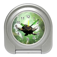 Beautiful Seaturtle With Bubbles Travel Alarm Clocks