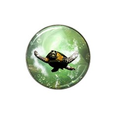 Beautiful Seaturtle With Bubbles Hat Clip Ball Marker