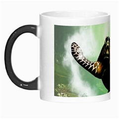 Beautiful Seaturtle With Bubbles Morph Mugs