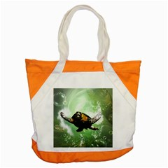 Beautiful Seaturtle With Bubbles Accent Tote Bag