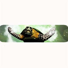 Beautiful Seaturtle With Bubbles Large Bar Mats