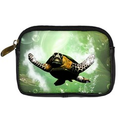 Beautiful Seaturtle With Bubbles Digital Camera Cases