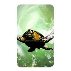 Beautiful Seaturtle With Bubbles Memory Card Reader