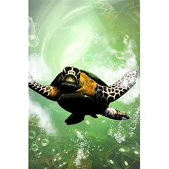 Beautiful Seaturtle With Bubbles 5.5  x 8.5  Notebooks