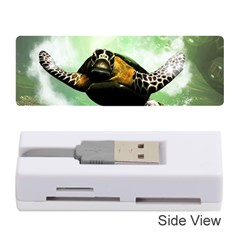 Beautiful Seaturtle With Bubbles Memory Card Reader (Stick)