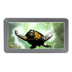 Beautiful Seaturtle With Bubbles Memory Card Reader (mini) by FantasyWorld7