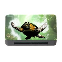 Beautiful Seaturtle With Bubbles Memory Card Reader with CF