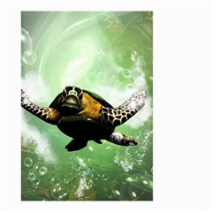 Beautiful Seaturtle With Bubbles Small Garden Flag (Two Sides)