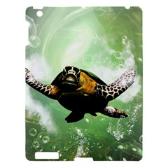 Beautiful Seaturtle With Bubbles Apple iPad 3/4 Hardshell Case