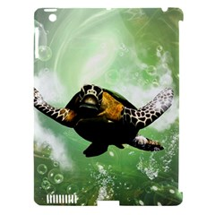 Beautiful Seaturtle With Bubbles Apple iPad 3/4 Hardshell Case (Compatible with Smart Cover)
