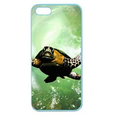 Beautiful Seaturtle With Bubbles Apple Seamless iPhone 5 Case (Color)