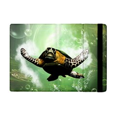 Beautiful Seaturtle With Bubbles Apple iPad Mini Flip Case