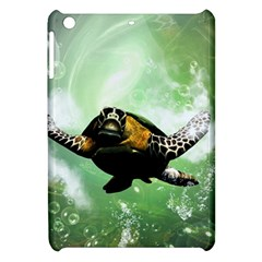 Beautiful Seaturtle With Bubbles Apple iPad Mini Hardshell Case
