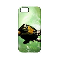 Beautiful Seaturtle With Bubbles Apple iPhone 5 Classic Hardshell Case (PC+Silicone)