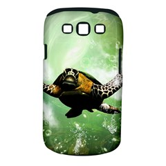 Beautiful Seaturtle With Bubbles Samsung Galaxy S III Classic Hardshell Case (PC+Silicone)