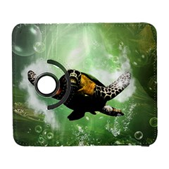Beautiful Seaturtle With Bubbles Samsung Galaxy S  III Flip 360 Case