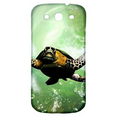 Beautiful Seaturtle With Bubbles Samsung Galaxy S3 S III Classic Hardshell Back Case