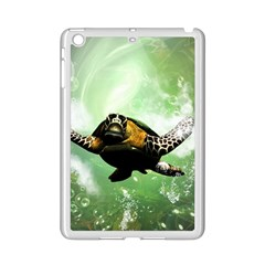 Beautiful Seaturtle With Bubbles iPad Mini 2 Enamel Coated Cases